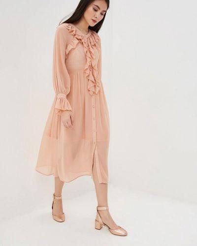 Коралловое вечернее платье Danity