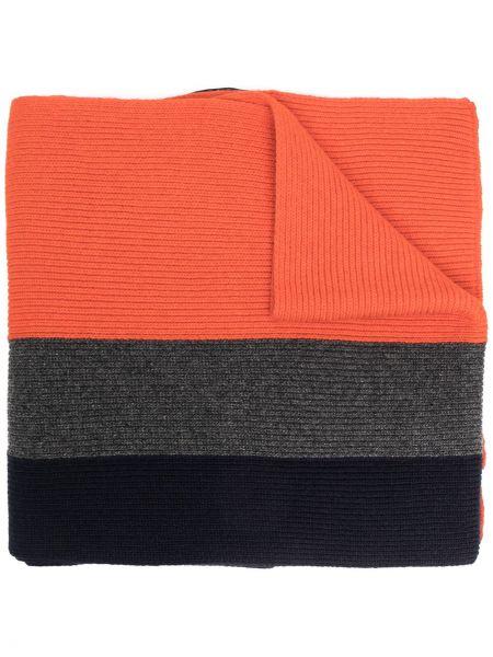 Trykotowy wełniany czarny trykotowy szalik z łatami Dsquared2