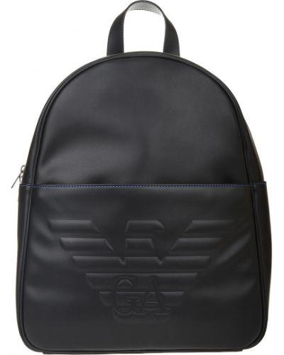 Кожаный рюкзак - черный Emporio Armani