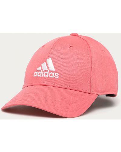 Różowy kapelusz Adidas Performance
