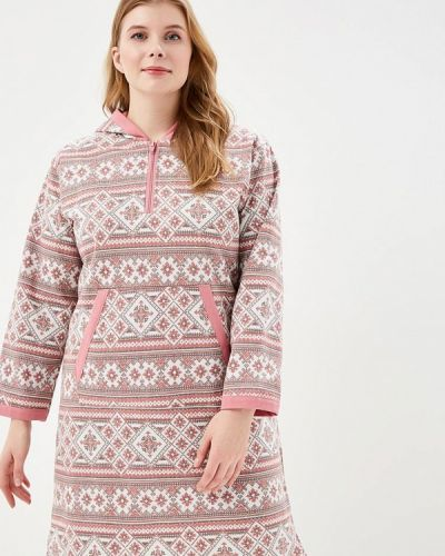 Платье осеннее розовое Лори