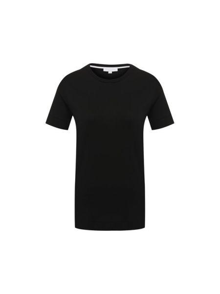 Футбольная базовая черная спортивная футболка со стразами Escada Sport