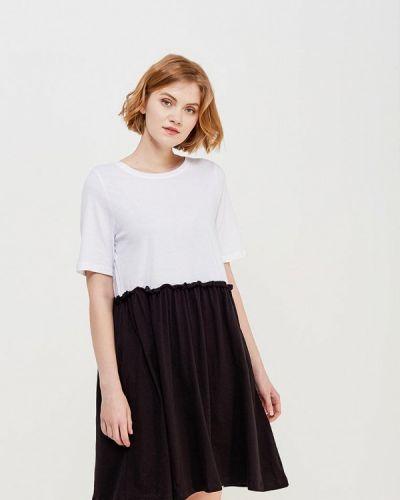 Белое платье с длинными рукавами Noisy May