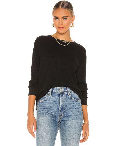 Bawełna z rękawami włókienniczy czarny t-shirt Re/done