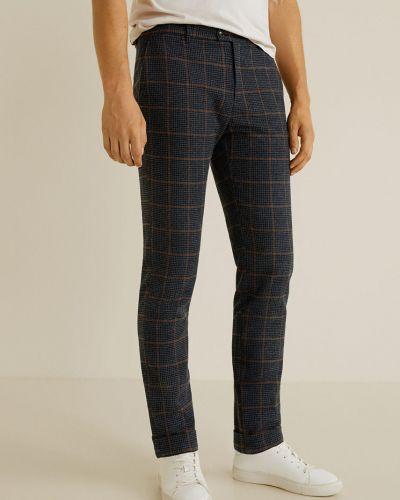 Прямые брюки с карманами шерстяные Mango Man