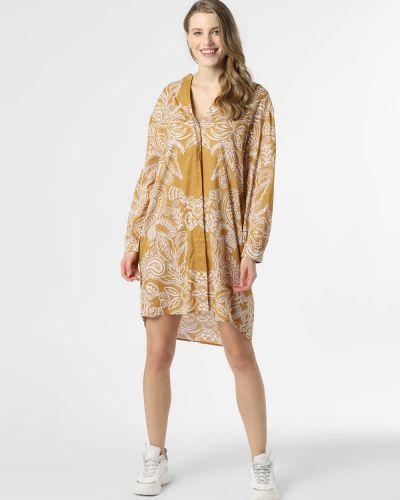 Sukienka plażowa bawełniana - żółta Marc O'polo