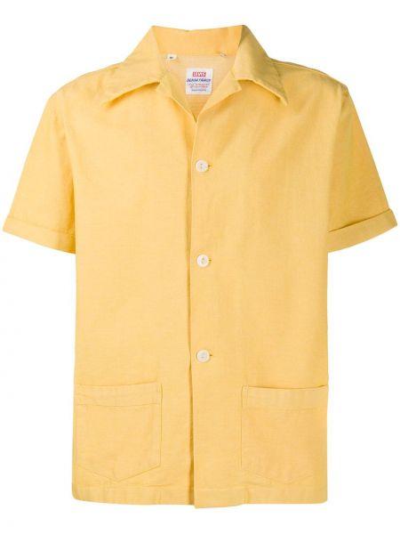 Желтая рубашка с короткими рукавами с карманами винтажная с отворотом Levi's Vintage Clothing