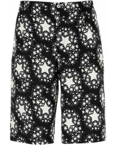 Czarne bermudy bawełniane z cekinami Gucci