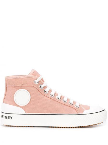 Розовый лаковый спортивный топ на шнуровке Stella Mccartney
