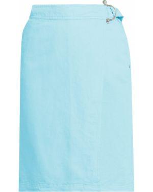 Бирюзовая юбка хлопковая Finn Flare