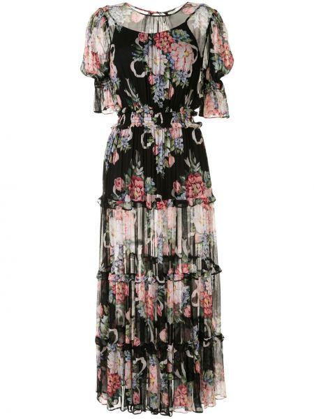 Черное платье мини с короткими рукавами из вискозы Alice Mccall