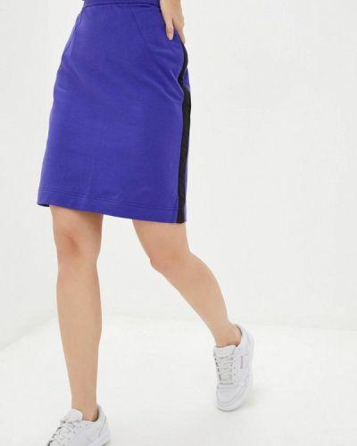 Синяя прямая юбка карандаш Promin