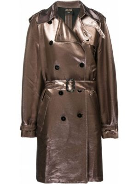Розовое пальто с поясом с лацканами винтажное Jean Paul Gaultier Pre-owned