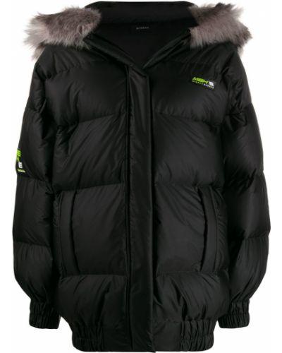 Черная длинная куртка из искусственного меха Misbhv