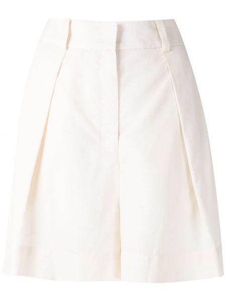 Белые шорты с карманами на молнии Andrea Marques
