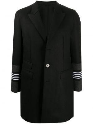 Белое шерстяное однобортное пальто на пуговицах Neil Barrett