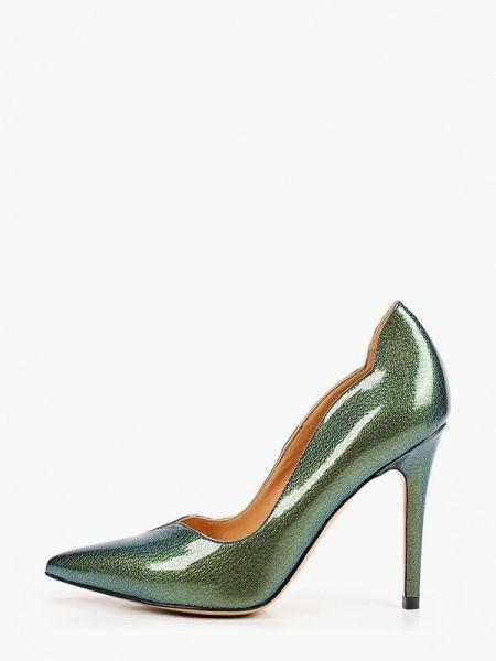 Зеленые лаковые кожаные туфли из натуральной кожи Pazolini