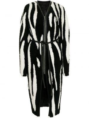 Długi płaszcz skórzany - biały Rick Owens