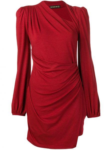 Драповое приталенное платье мини с запахом Plein Sud