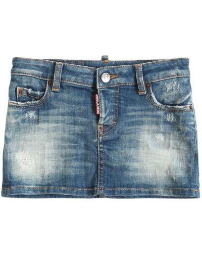 Niebieska spódnica jeansowa bawełniana Dsquared2