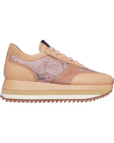 Розовые кроссовки на платформе Le Silla
