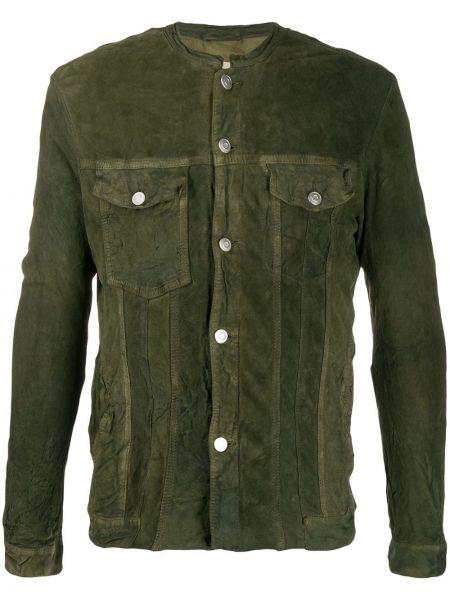 Zielona koszula bawełniana z długimi rękawami Giorgio Brato