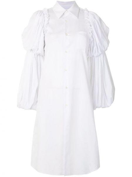 Белая классическая рубашка с воротником оверсайз с длинными рукавами Comme Des Garçons