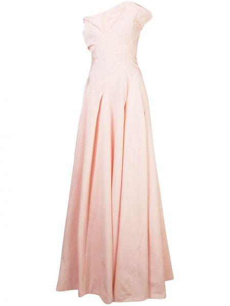 Вечернее платье в рубчик приталенное Oscar De La Renta