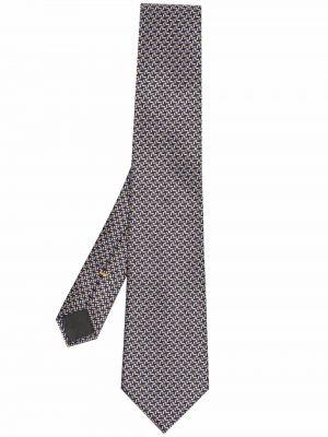 Krawat z jedwabiu - niebieski Canali