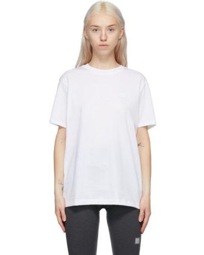 Белая рубашка с короткими рукавами с воротником Acne Studios
