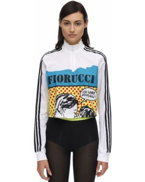 Кроп-топ с леопардовым принтом в полоску Adidas Originals