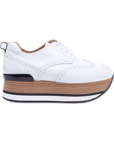 Кроссовки на платформе яркие Hogan