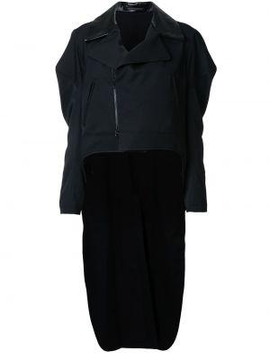 Кожаный черный пиджак Yohji Yamamoto