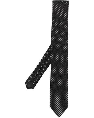 Галстук узкий шелковый с цветочным принтом Dolce & Gabbana