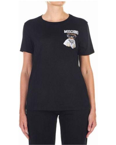 Z rękawami t-shirt z haftem Moschino
