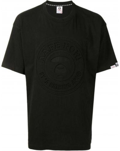 Czarna t-shirt bawełniana Aape By A Bathing Ape