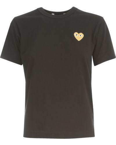 Czarny t-shirt do biegania Comme Des Garcons Play
