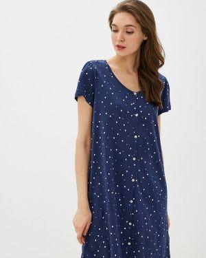 Платье осеннее синее Nymos