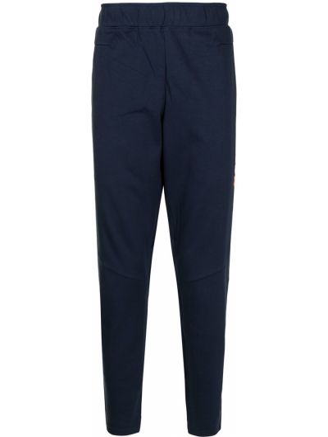 Хлопковые синие спортивные брюки эластичные Aape By A Bathing Ape