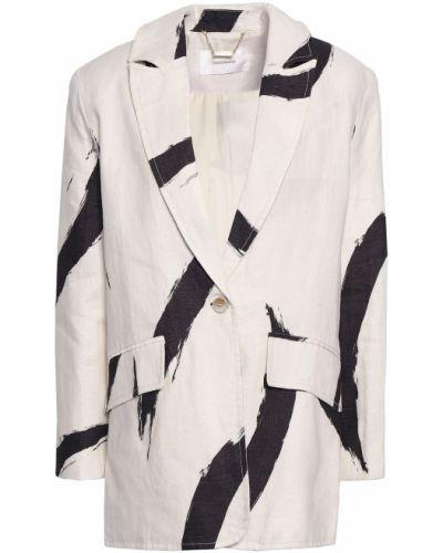 Бежевый пиджак с карманами в полоску Zimmermann