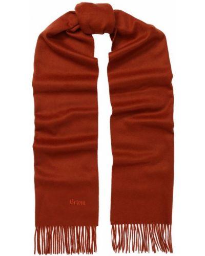 Оранжевый шарф с бахромой Brioni