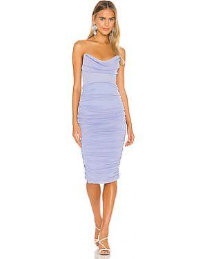 Платье миди с декольте вязаное Michael Costello