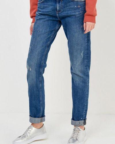 Синие прямые джинсы S.oliver