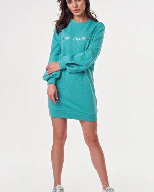 Платье мини с поясом со складками Fly