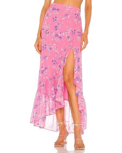 Розовая юбка из вискозы Yumi Kim