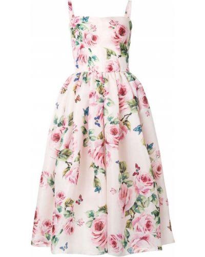 Платье с цветочным принтом солнце на бретелях Dolce & Gabbana