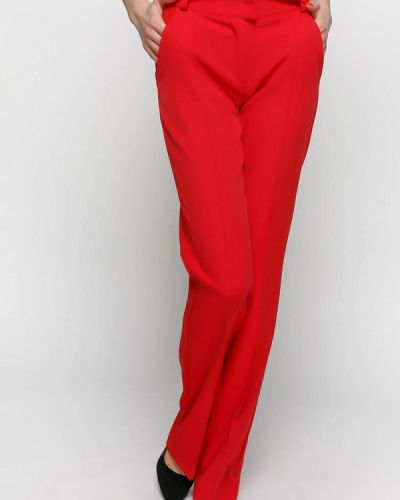 Классические брюки красный весенний Zubrytskaya