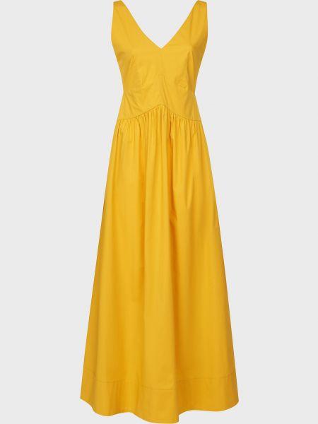 Хлопковое желтое платье на молнии Beatrice.b