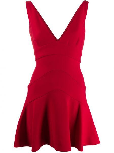 Платье мини с баской с V-образным вырезом Dsquared2