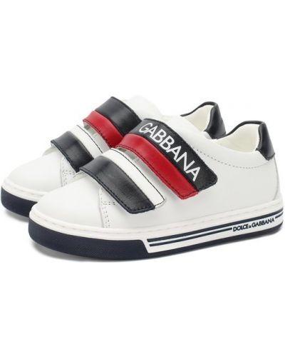 Кеды кожаный белый Dolce & Gabbana